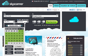 Comparateur de vol SkyScanner